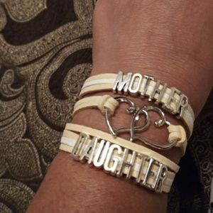 Brand new beige and white mother and daughter brac